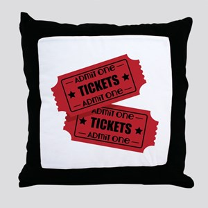 Admit One Tickets Throw Pillow